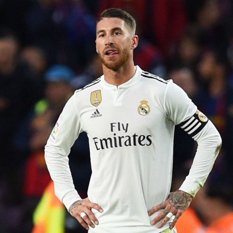 Official Sergio Ramos Real Madrid Signed Shirt, 2018/19