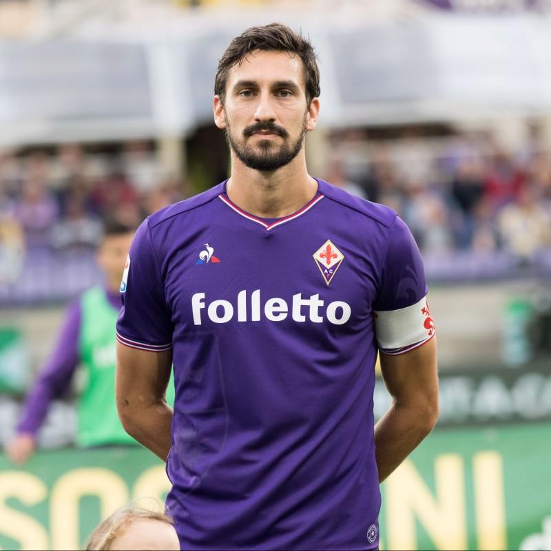 Maglia gara Astori Fiorentina, 2016/17 - Autografata