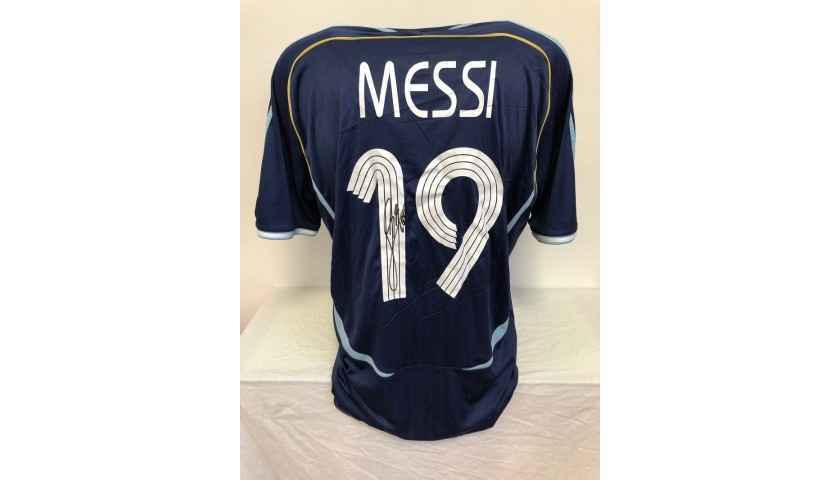 Messi's Official Argentina Signed Shirt, 2006