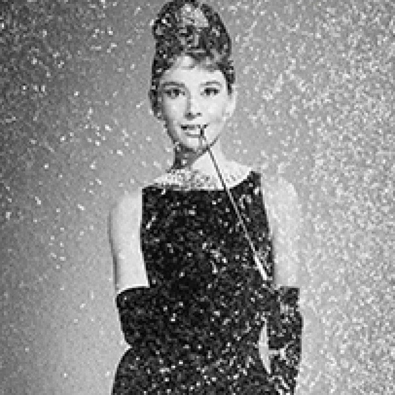 "Audrey Hepburn ""Breakfast at Tiffany's"" Diamond Dust Signed Print"