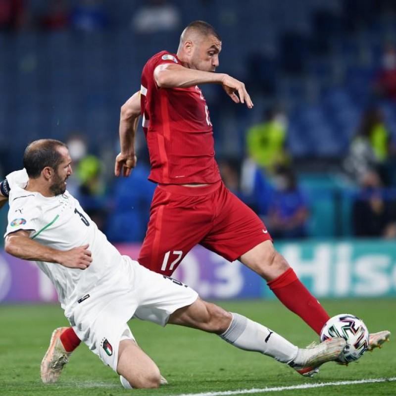 Yilmaz's Worn Match Shirt, Turkey-Italy 2021