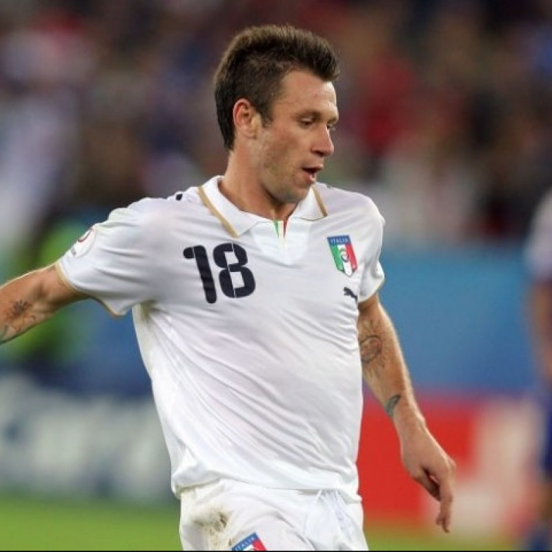 Cassano's Italy Signed Match Shirt, 2007/08