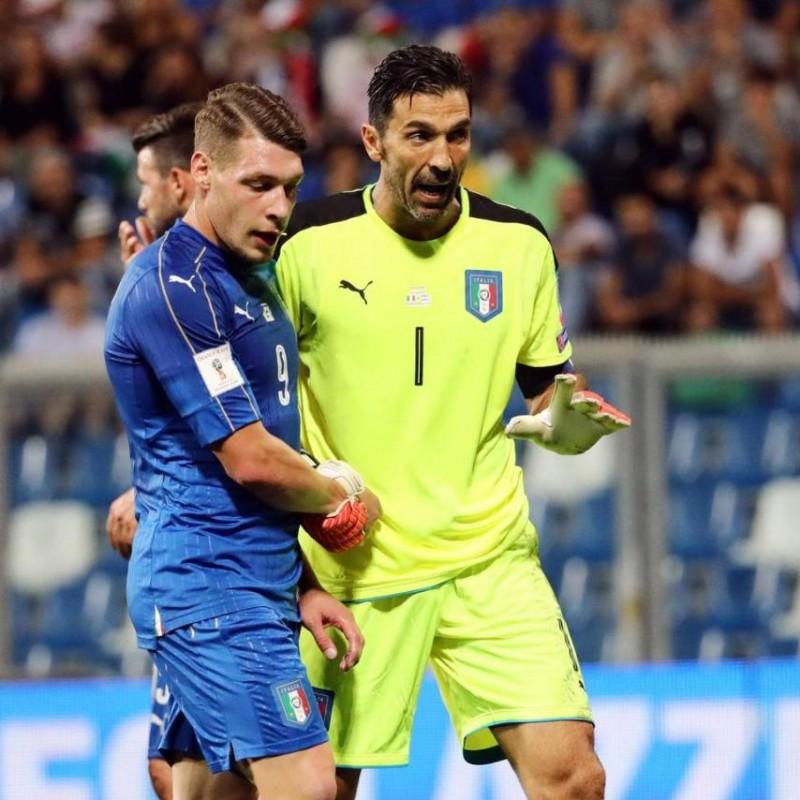 Buffon's Signed Match Shirt, Italy-Israel 2017