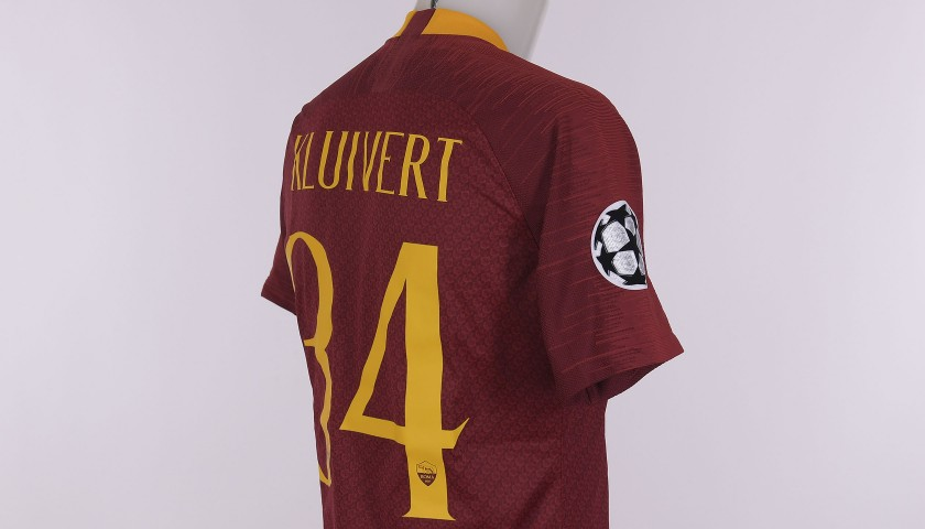 Kluivert's Worn Shirt, Roma-Real Madrid CL 2018/2019