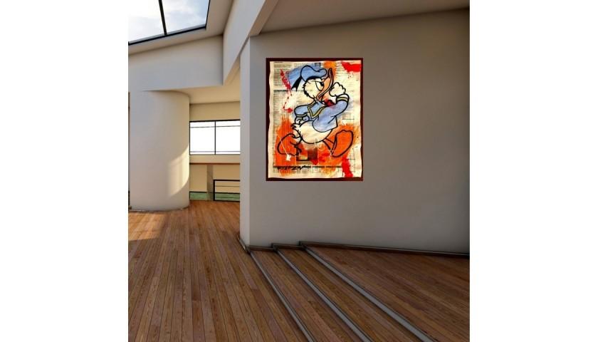 """""""Donald Duck Typographic"""" Original Board by Riccardo Penati"""