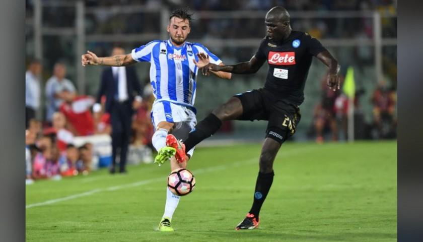 Koulibaly's Napoli Match Signed Shirt, 2016/17