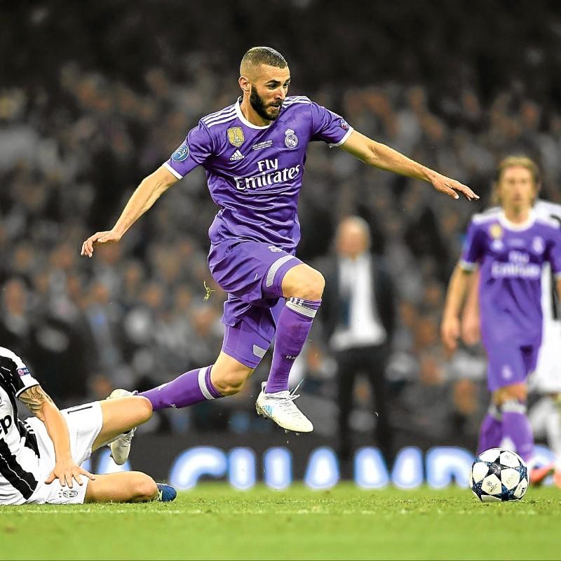 Benzema's Match Shirt, Juventus-Real Madrid, Cardiff Final 2017