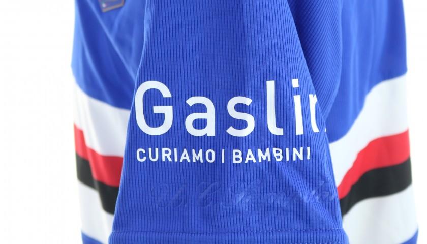 Quagliarella's Worn Shirt, Genoa-Sampdoria, Special Gaslini