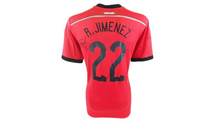 Raul Jiménez's Official Mexico Signed Shirt, 2014
