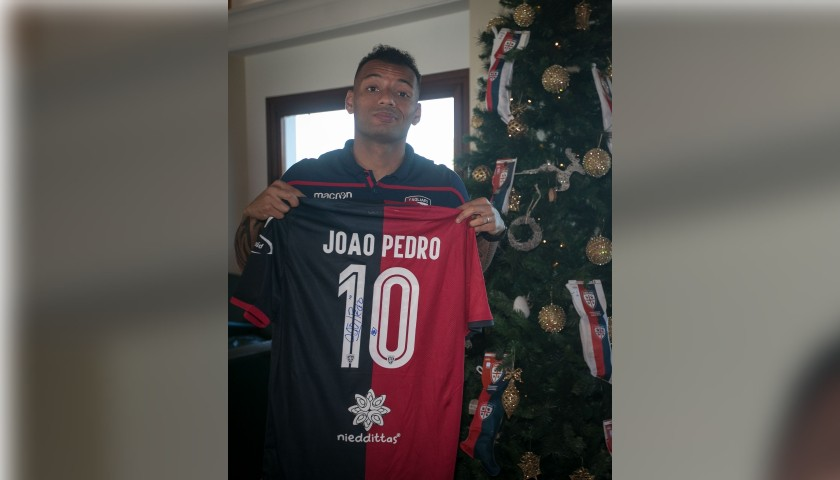Cagliari Festive Shirt - Worn and Signed by Joao Pedro