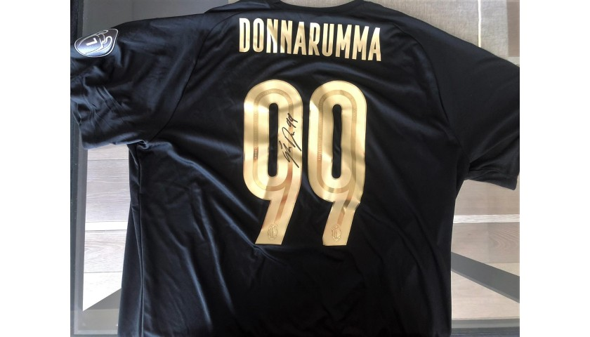 Donnarumma's Worn and Signed Shirt, Milan-Sassuolo, 120th ...