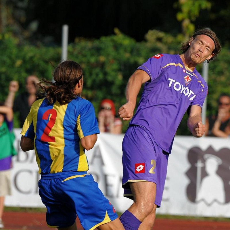 Krøldrup's Match-Issued/Worn Fiorentina Shirt, Serie A 2008/09