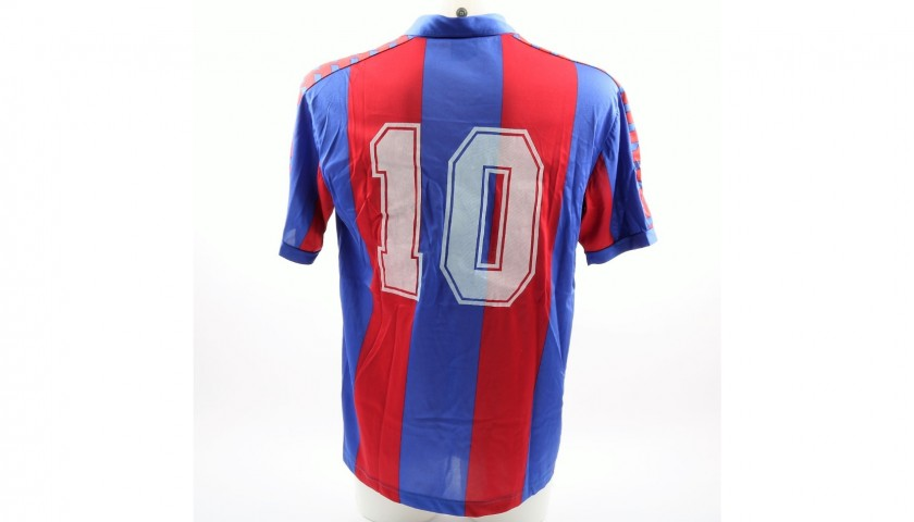 Maradona's Barcelona Match-Issue/Worn 1983/84 Season Signed Shirt