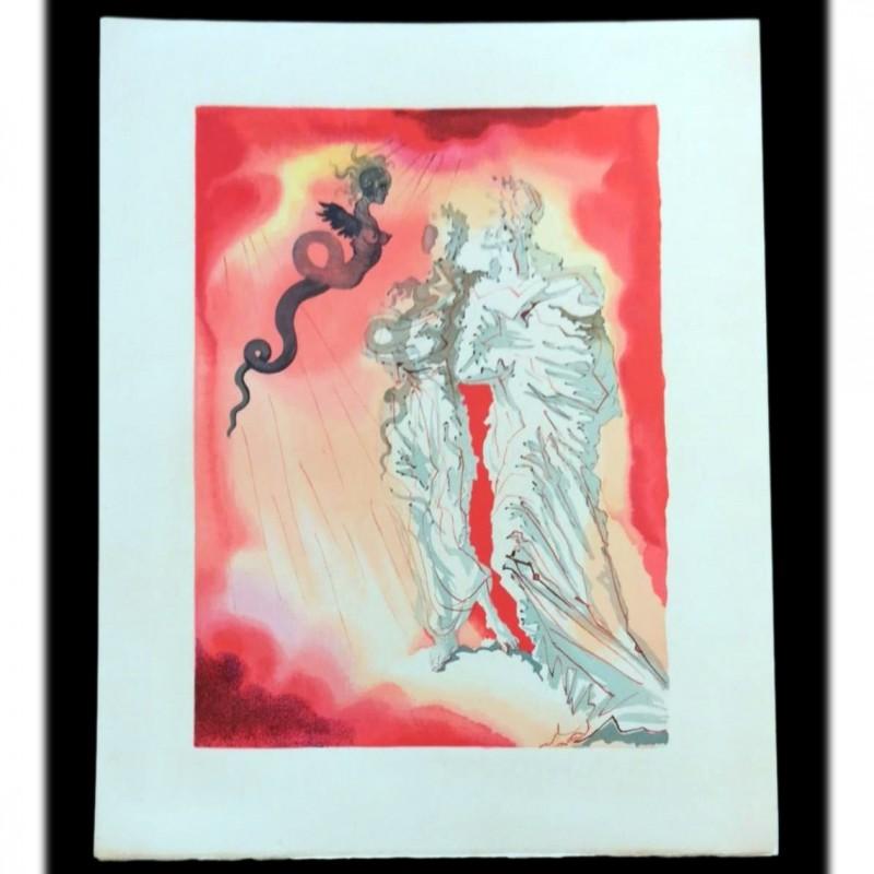 Original Board by Salvador Dalì - Divine Comedy Inferno Canto XVII