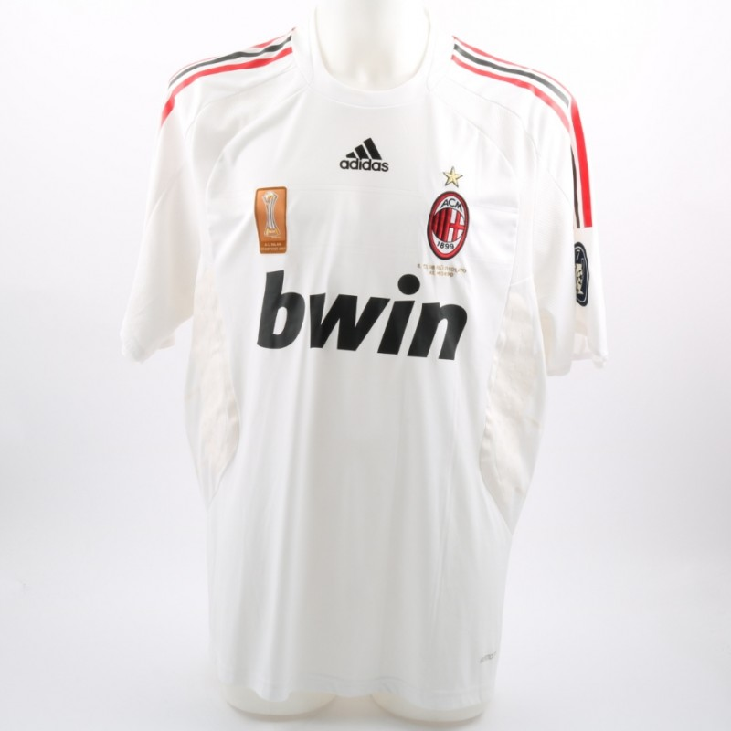 Maldini's Milan Match-Issue Fiorentina-Milan 2008 Friendly Shirt