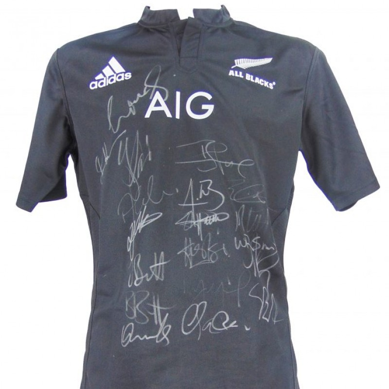 Signed 2017 New Zealand All Blacks Rugby Shirt