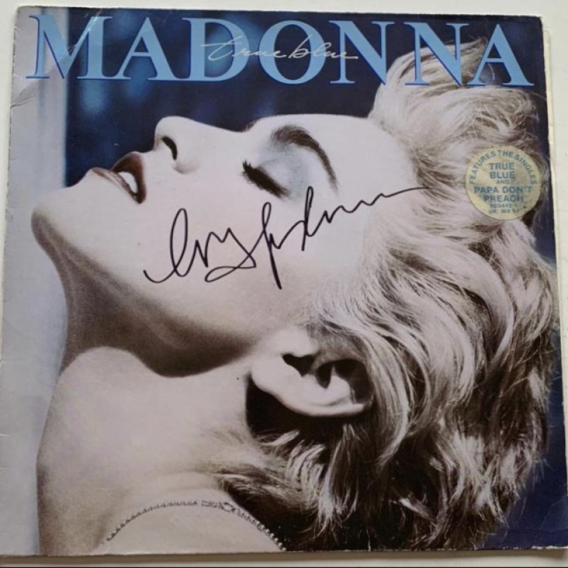 Madonna Signed True Blue Vinyl LP