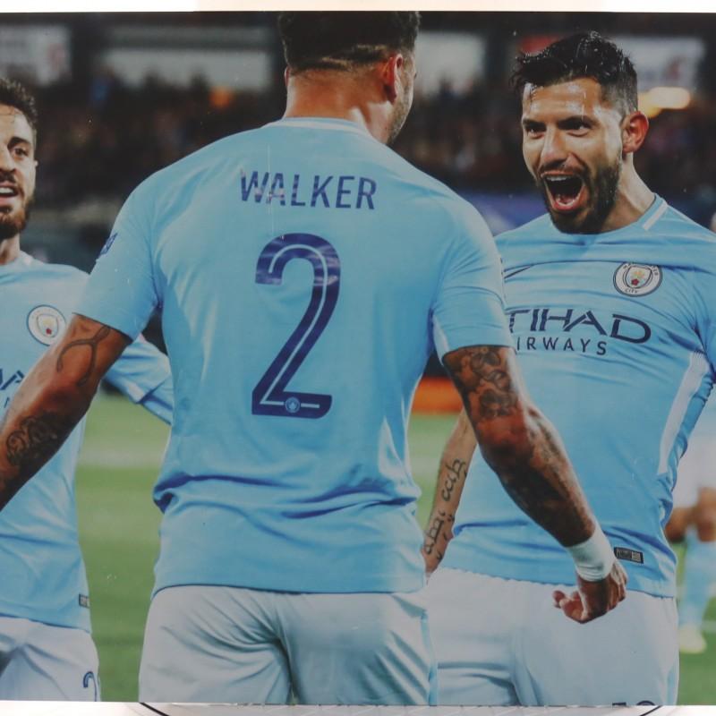 Manchester City's Sergio Aguero & Kyle Walker Unique Picture
