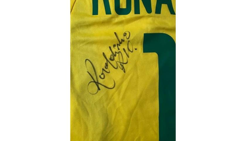 Ronaldinho Signed Team Brazil Jersey