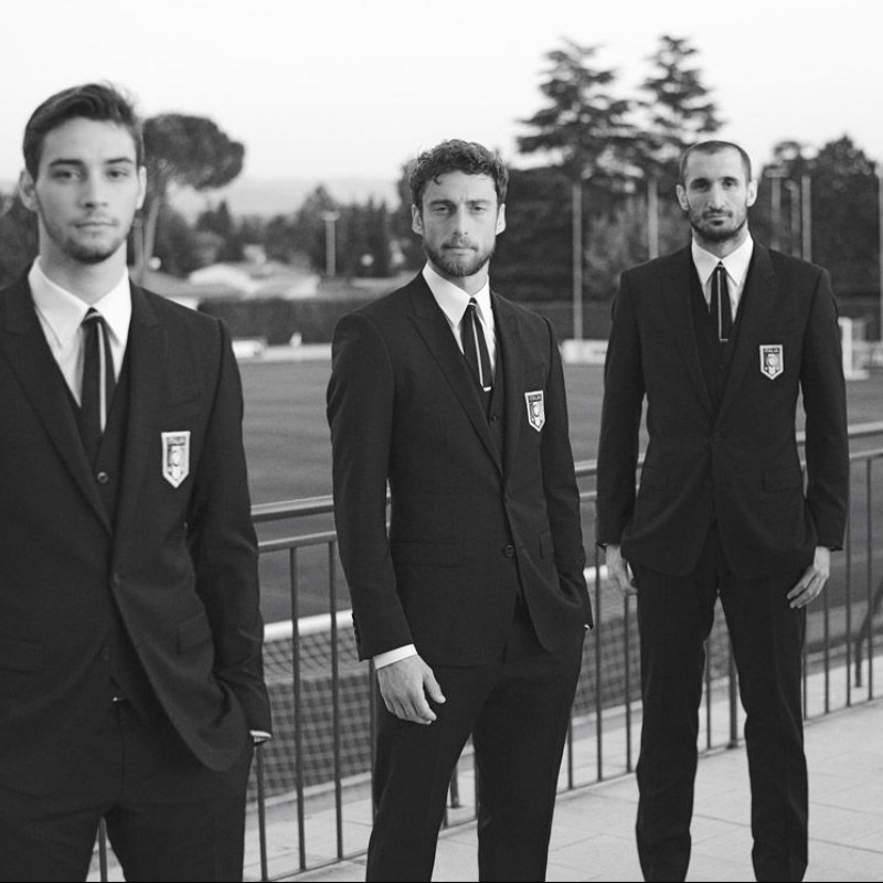 Italy National Football Team Suit Worn by Andrea Poli