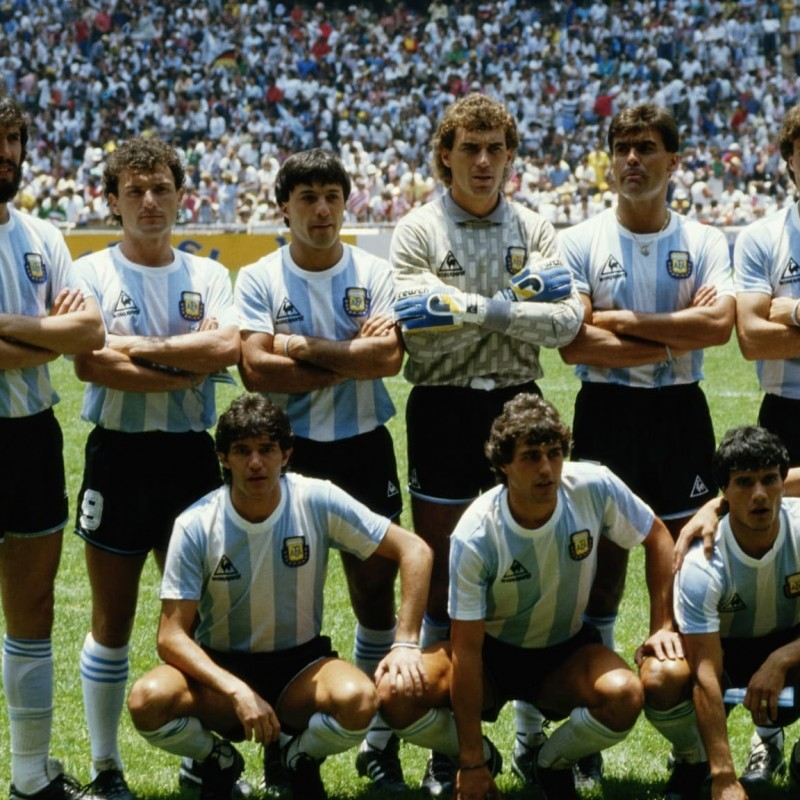 Argentina 1986 World Cup Squad Signed Shirt