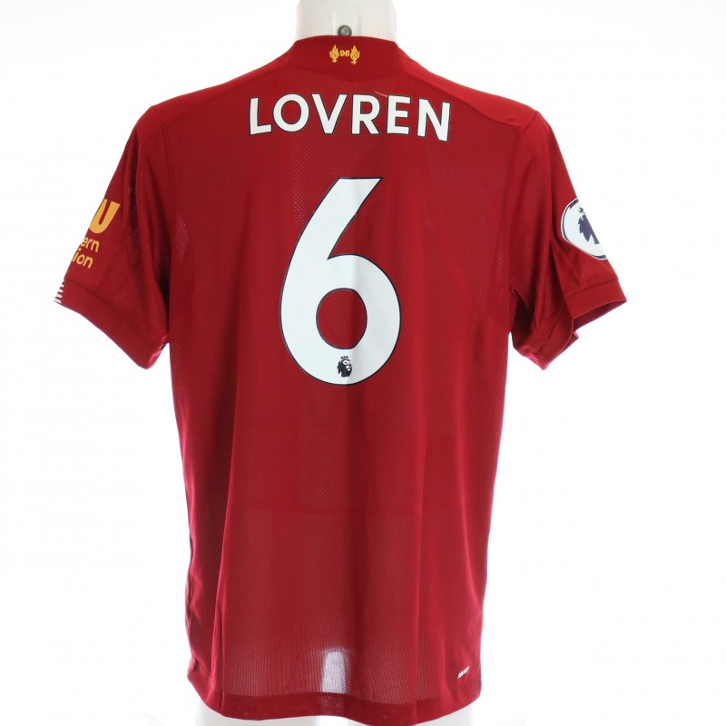 Lovren's Issued and Signed Limited Edition 19/20 Liverpool FC Shirt