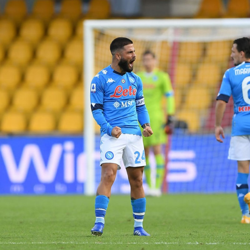 Insigne's Napoli Worn and Signed Shorts, 2020/21