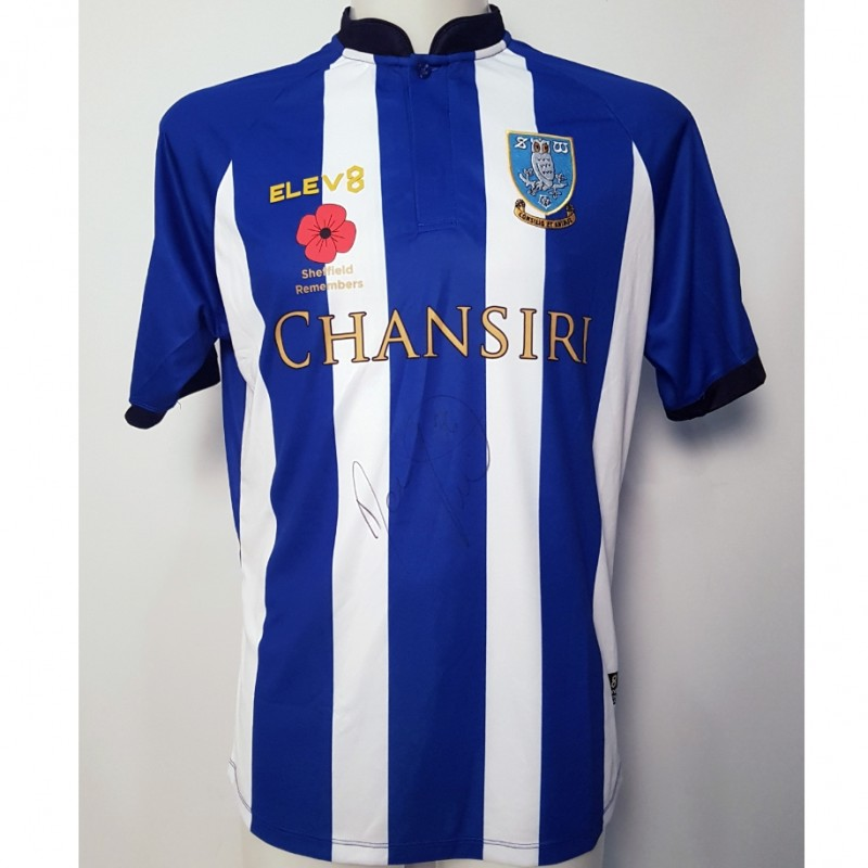 Daniel Pudil's Sheffield Wednesday Worn and Signed Poppy Home Shirt