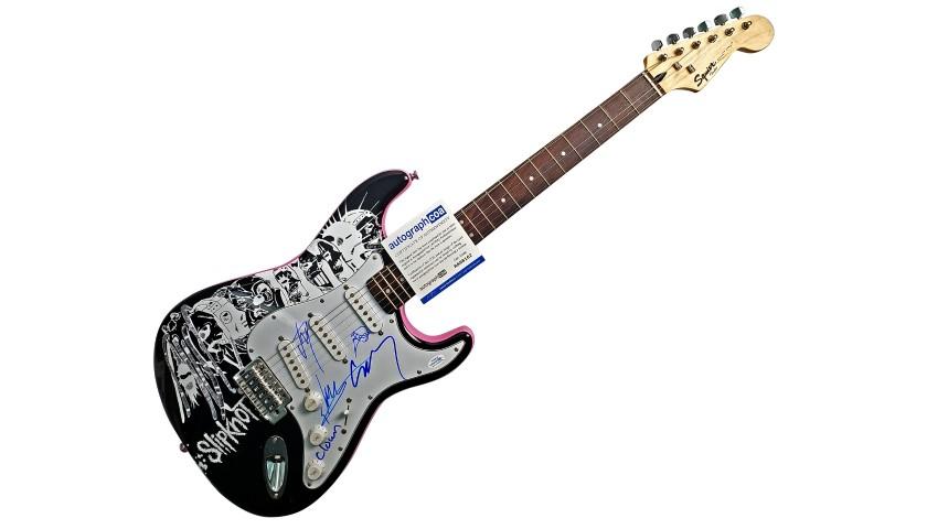 Slipknot Hand Signed Custom Graphics Guitar
