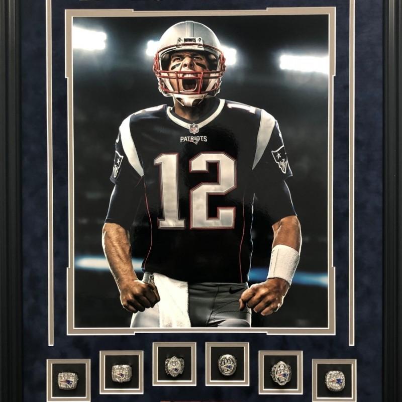 Tom Brady 6X Super Bowl Championship Rings Shadowbox
