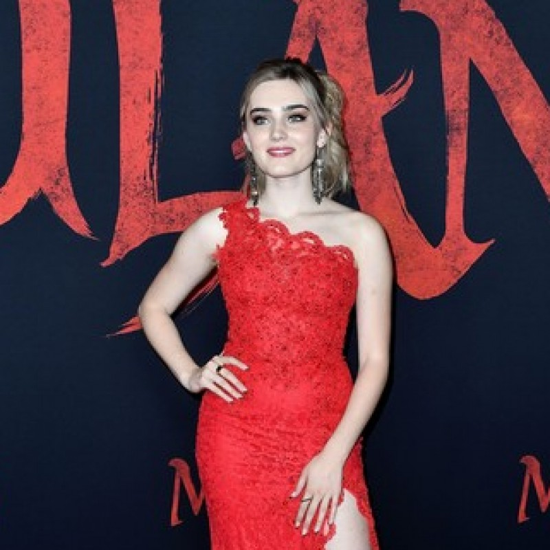 Meg Donnelly Mulan Premiere Dress