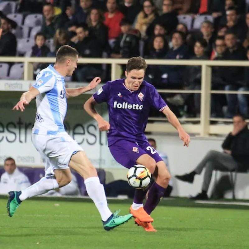 Chiesa's Fiorentina-Lazio Signed Match Shirt, 2018