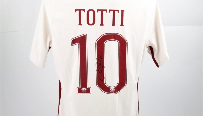 Totti Roma Shirt, Issued 2016/17 - Signed