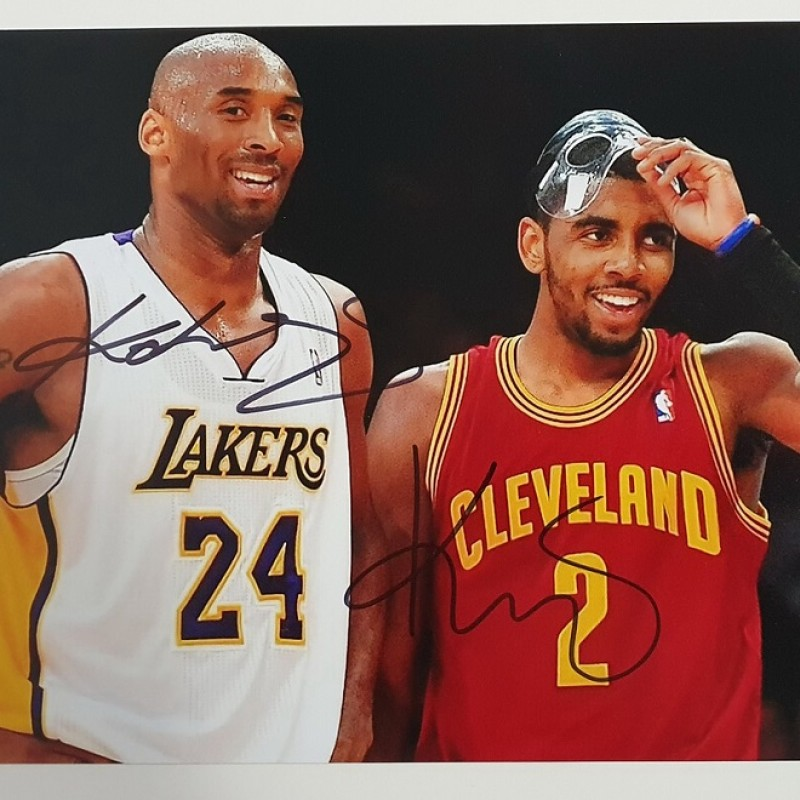Photograph Signed by Kobe Bryant and Kyrie Irving