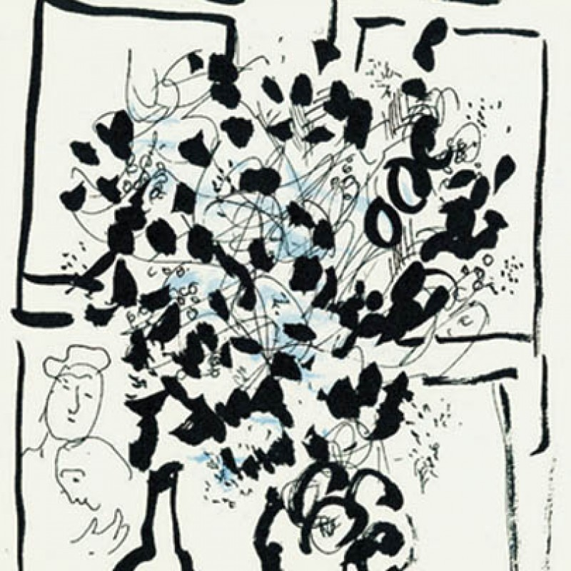 Marc Chagall - Black and Blue Bouquet