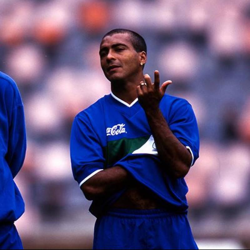 Romario's Brazil Worn Polo Shirt, 1997