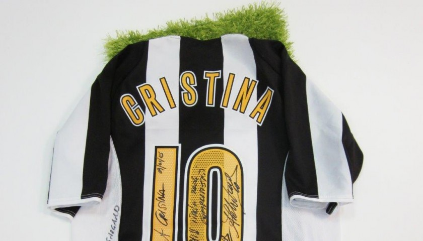 innovative design a1cd7 1f366 Juventus shirt signed by Cristina Chiabotto and Alessandro Del Piero -  CharityStars