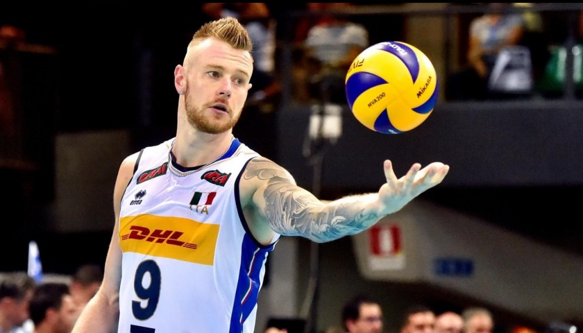 Zaytsev's Official Italy Volleyball Signed Shirt, 2018