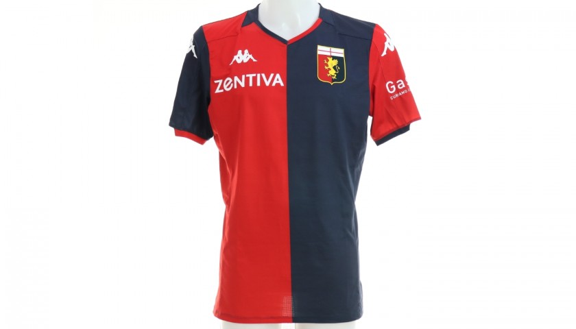 Sturaro's Match-Issued Signed Shirt, Genoa-Sampdoria 2019