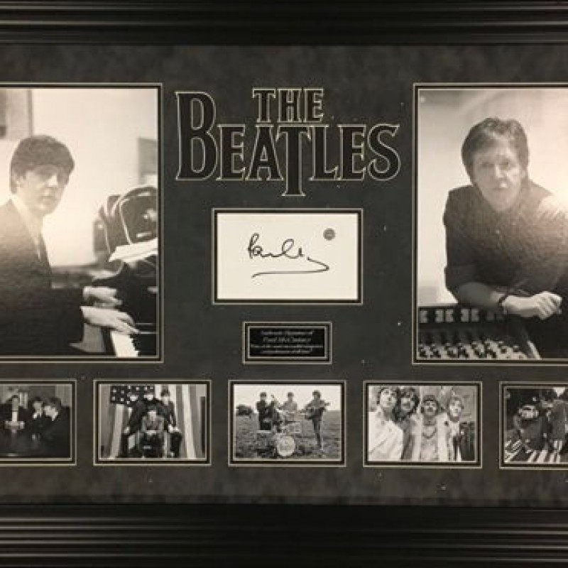 The Beatles Celebrative Montage Signed by Paul McCartney