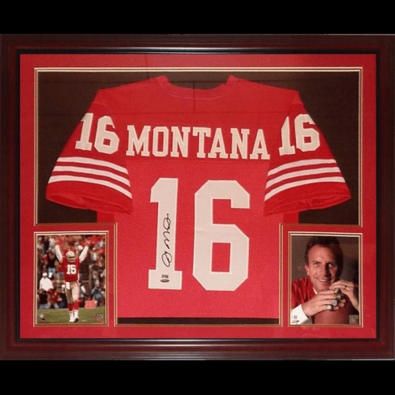 Joe Montana Signed San Francisco 49ers Framed Jersey