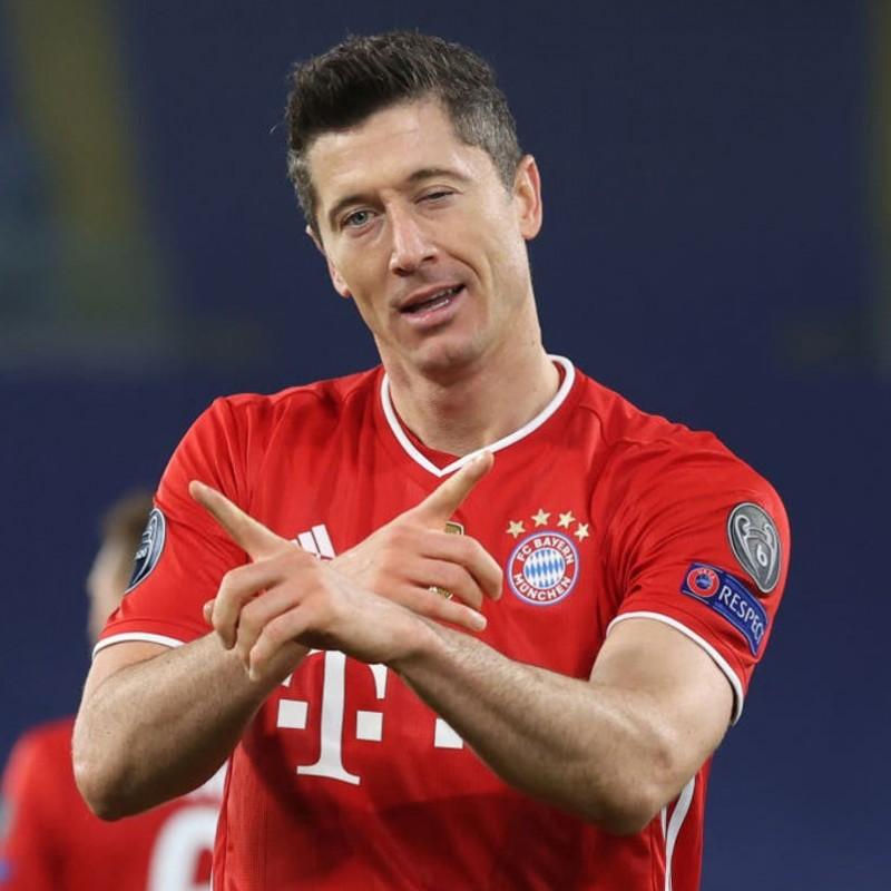 Lewandowski's Bayern Munich Match Shirt, UCL 2020/21