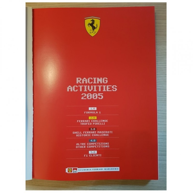"Ferrari Yearbook ""Racing Activities 2005"" Signed by Drivers and Staff"