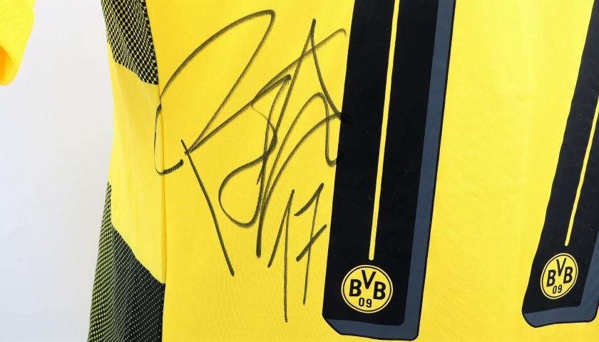 Aubameyang's Signed Match-Issued/Worn Shirt, 2017 DFL-Supercup