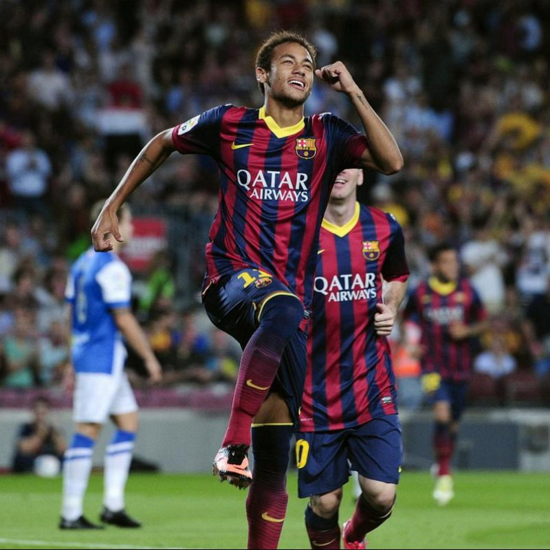 Neymar's Official Barcelona Signed Shirt 2013/14