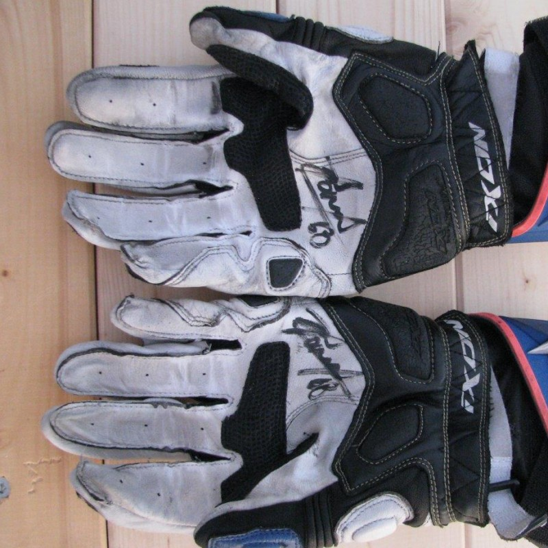 Gloves worn by Yonny Hernandez #68 - signed