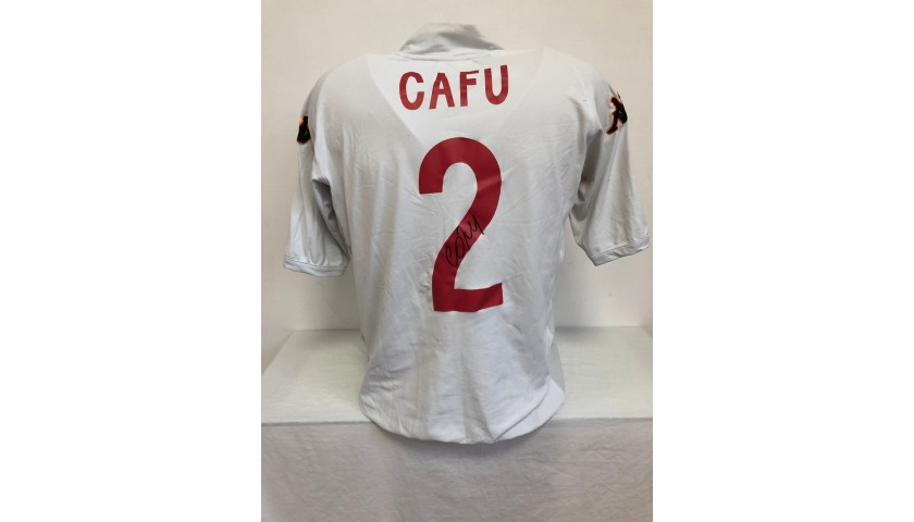 Cafu's Official Roma Signed Shirt, 2002/03