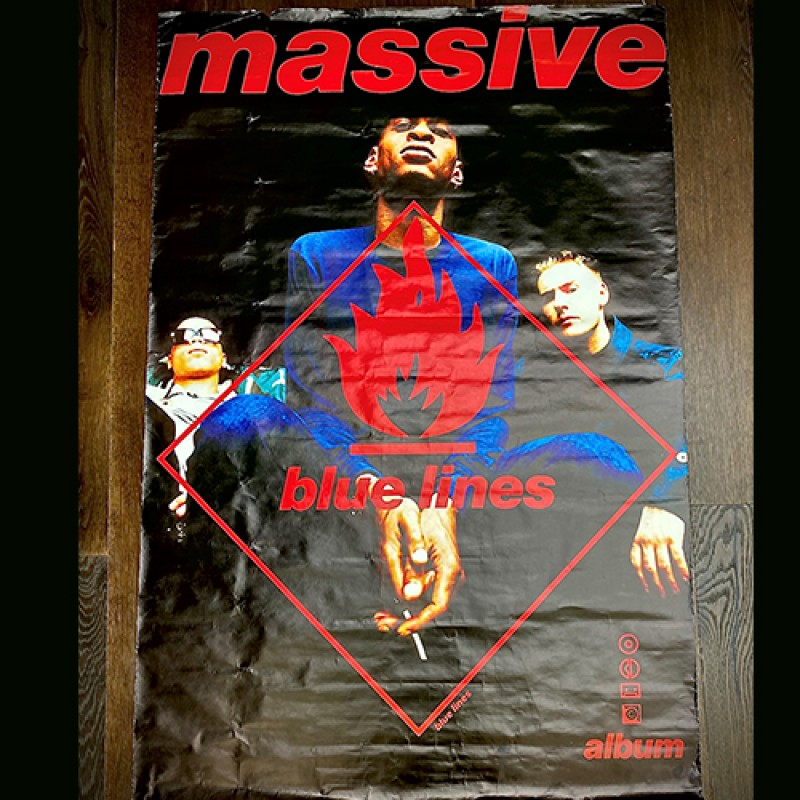 Signed Massive Attack Blue Lines Poster