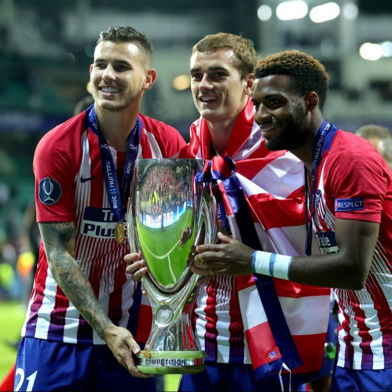 Griezmann's Atletico Madrid Match Shirt, UEFA Super Cup 2018