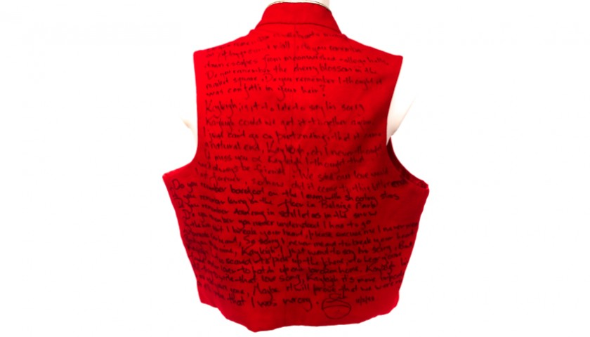 Unique Marillion Waistcoat with Kayleigh Lyrics Handwritten by Fish